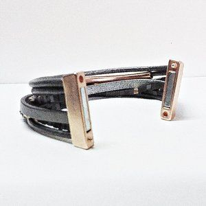 Unbranded Jewelry - Carbon Faux Leather Bracelet